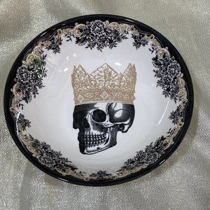 Royal Stafford HALLOWEEN  SKULL CROWN BOWLS 4